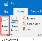 Outlook new mail message